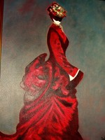 Lady in Red 60 x 8